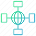 internet, intranet, network, signal icon