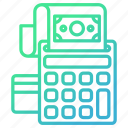 accounting, machine, methods, payment, shopping icon