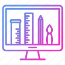 demonstration, design, graphic, portfolio icon
