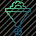 conversion, filter, funnel, make money, sales