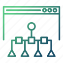 database, navigation, seo and web optimization, sitemap, tree icon