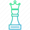 chess, for, king, strategy, victory, winner icon