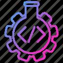 code, lab, programming, script, testing, tube icon
