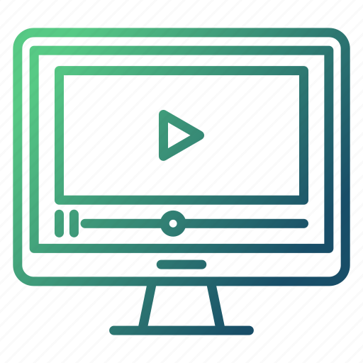 education, marketing, tutorial, video icon