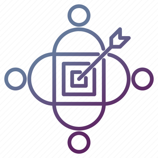 Audience, goal, target, teamwork icon - Download on Iconfinder