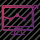 chart, growth, monitoring, seo, seo and web optimization icon