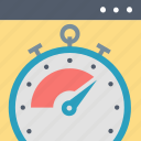 optimization, page, productivity, speed, time, timer, webpage icon