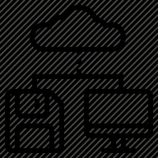 cloud connection, cloud storage, internet backup, internet connection, internet storage, networking, online backup icon