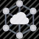 cloud computing, cloud connection, cloud network, social media icon