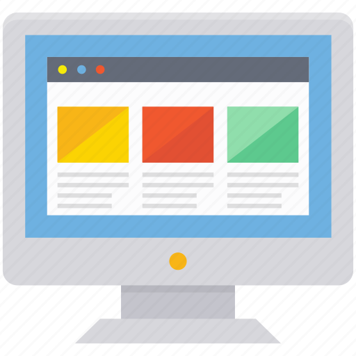 lcd, monitor, web designing, web template, wireframe icon