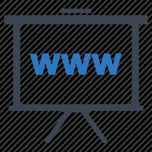 presentation, training, www icon