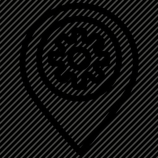 location, marker, optimization, place, place optimization, seo icon