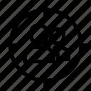 crosshair, focusing target, human target, marketing, seo target icon