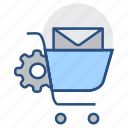email notification, optimization, seo marketing, search engine, shopping market, email icon