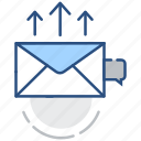 like, marketing, send mail, email marketing, notification, seo, email icon