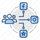 social media, digital marketing, communication, share, search engine, seo icon