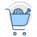 settings, marketing, optimization, search engine, seo, shopping cart, ecommerce icon