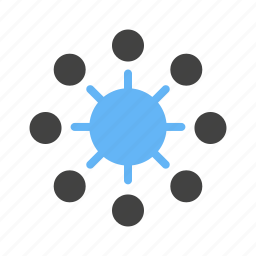 box, business, digtial marketing, gear, lines, signals, spikes icon