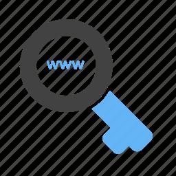 filter, internet, key, magnifier, optimization, search, web optimization icon