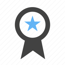 award, medal, position, ranking, ribbon, star icon