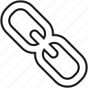 chain, connection, hyperlink, link, network, seo icon