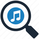 music, search icon