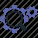 optimization, search icon