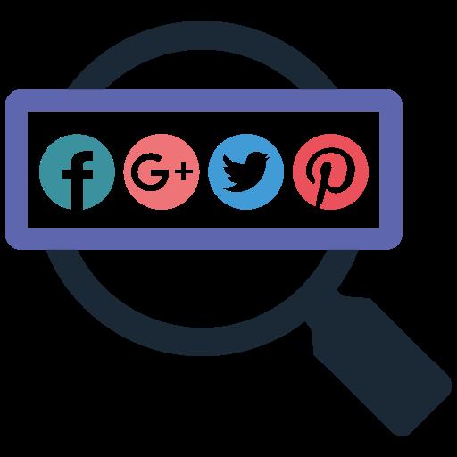 search, social icon