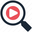 search, video icon