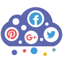 cloud, media, social icon