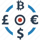 exchange, money, seo icon