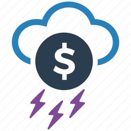 money, rain, seo icon