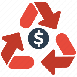 money, recycle, seo icon