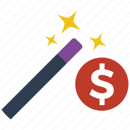 money, seo, wizard icon