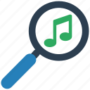 music, search, seo icon