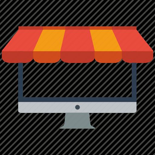 online, seo, store icon