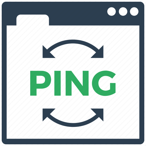back, ping, seo icon