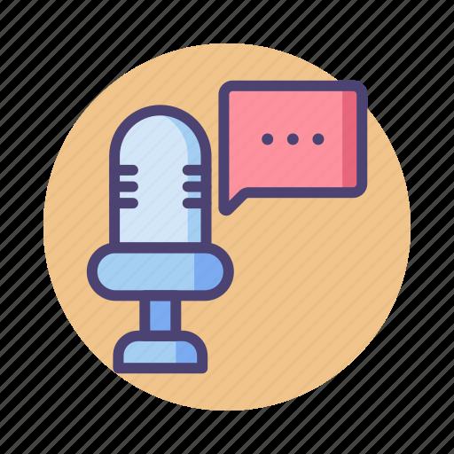 audio, communication, pr, public relation, speech, voice, voice message icon