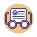 check, glasses, grammar, readability, readability check, spelling icon