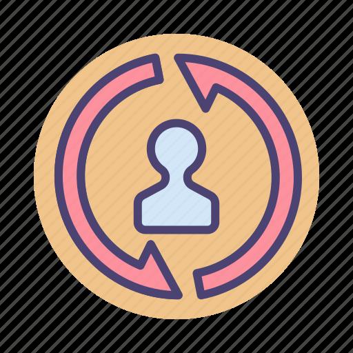 remarketing, retargeting, services icon