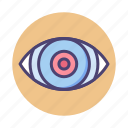 eye, eye ball, retina, retina ready icon