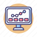chart, dashboard, graph, monitoring, performance, seo, stats icon