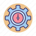 cog, gear, performance, seo, wheel icon
