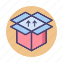 box, dropbox, package, parcel icon