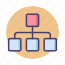 chart, hierarchy, organisational chart, organizational chart, sitemap, team icon