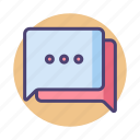 chat, discussion, message, messaging, text, texting icon