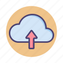 cloud, cloud architecture, cloud hosting, cloud storage, upload icon