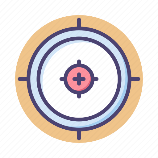 aim, goal, objective, target, targeting icon