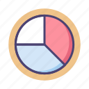 analytics, chart, diagram, pie chart, web, web analytics icon