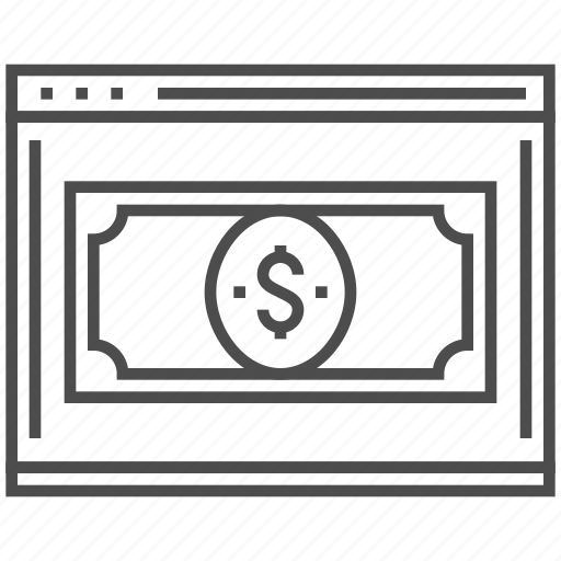 business, dollar, landing, money, page, site, web icon